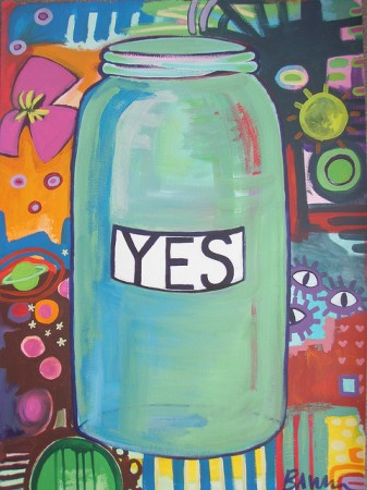 There is a wonderful YES jar ritual in the book, and I usually bring a Yes Jar to demonstrate.