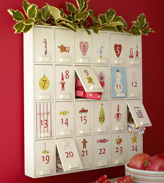 plans for wood advent calendar