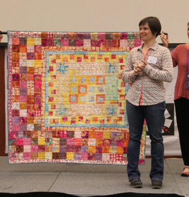 Melanie Testa told the story of this quilt for her Go Tell It.
