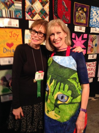 Me & Laurie Russman celebrate the Alliance contest quilts (on sale @eBay starting Nov. 10)